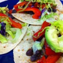 Hatch Green Chile Black Bean Tacos