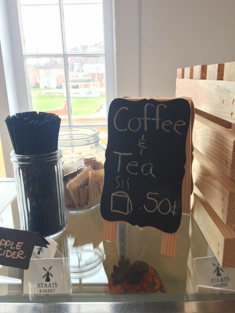 coffee and tea 50 cents