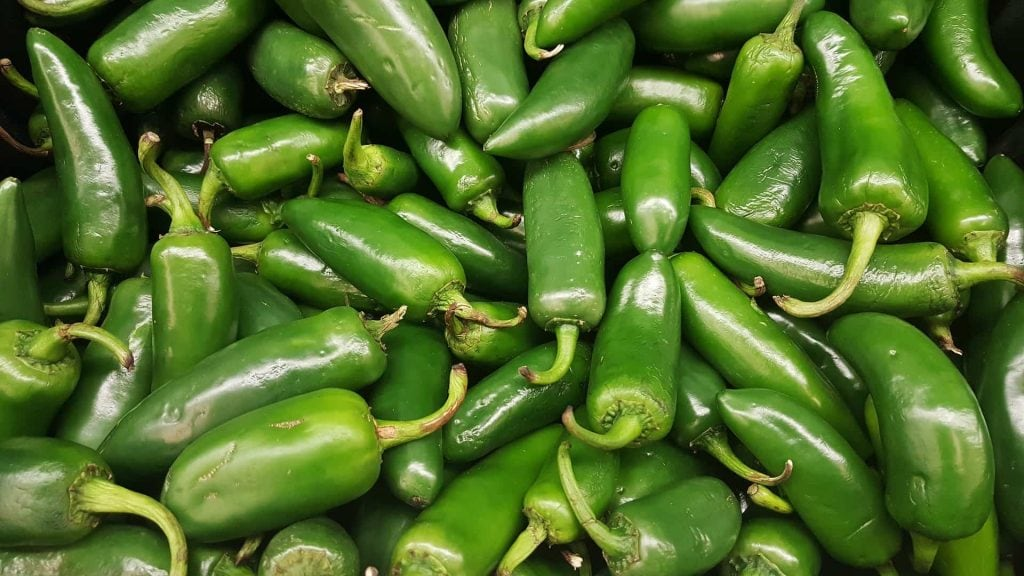 Jalapeños for spicy charro beans by very veganish