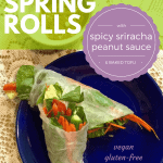 spring rolls on a blue plate