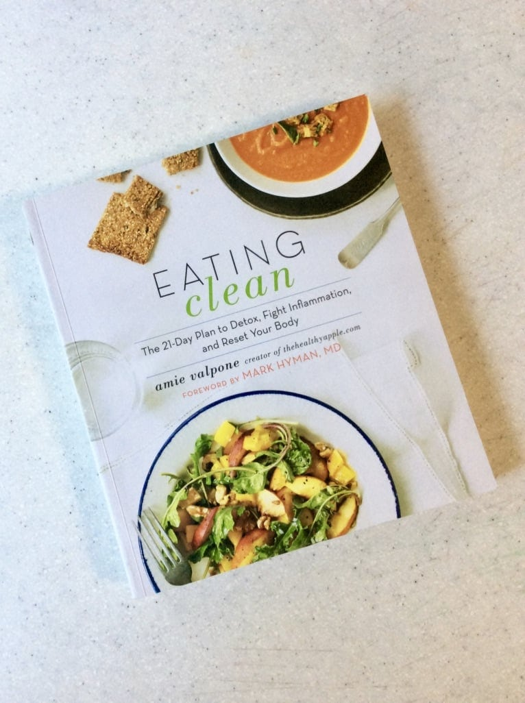 Eating Clean by Amie Valpone Vegan and Gluten-Free Cookbook with comfort food, baking recipes, sauces and nutritional advice - Cookbooks I love by Very Veganish