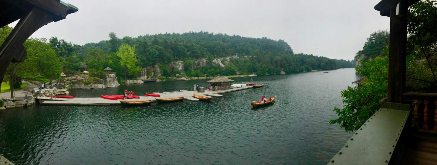 Front Porch View at Mohonk Mountain House by Very Veganish