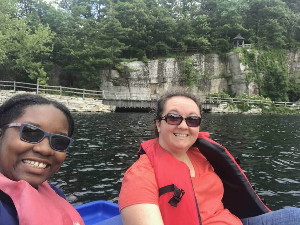 Paddle boating on the lake at Mohonk Mountain House New York by Very Veganish