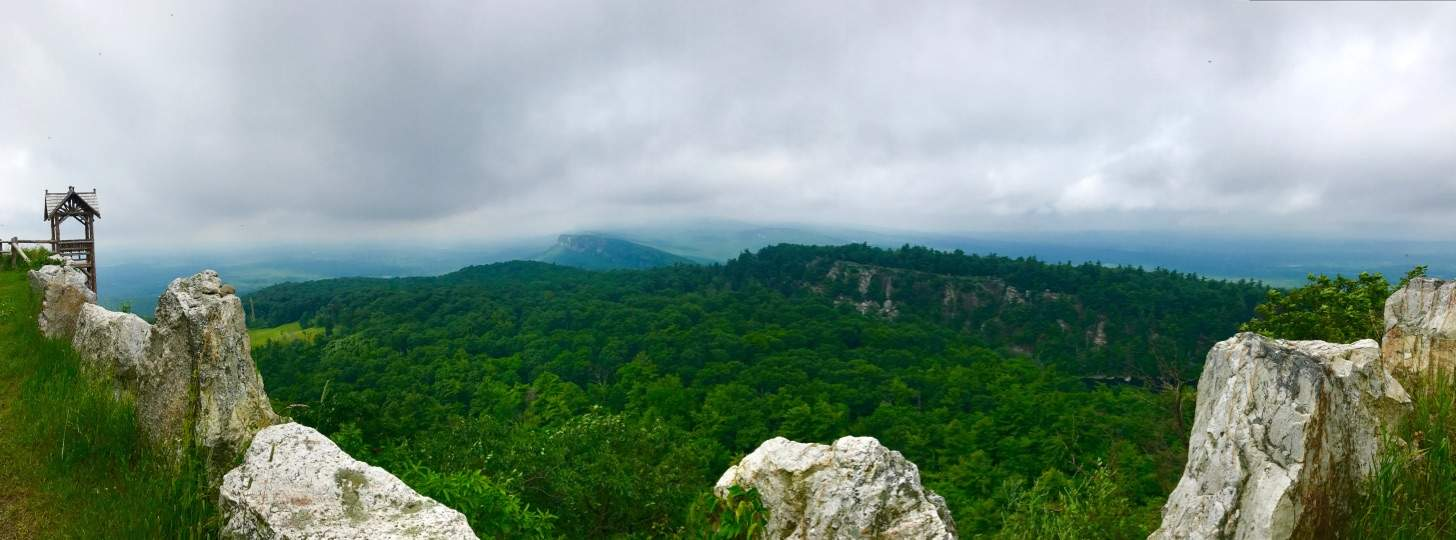 Panoramic View on Mohonk Hike at Mohonk Mountain House New York by Very Veganish
