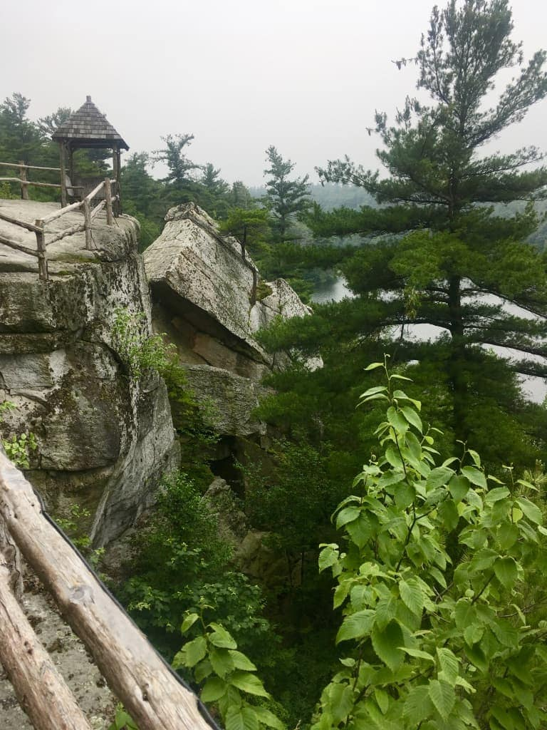 Side of Mountain at Mohonk Mountain House New York by Very Veganish