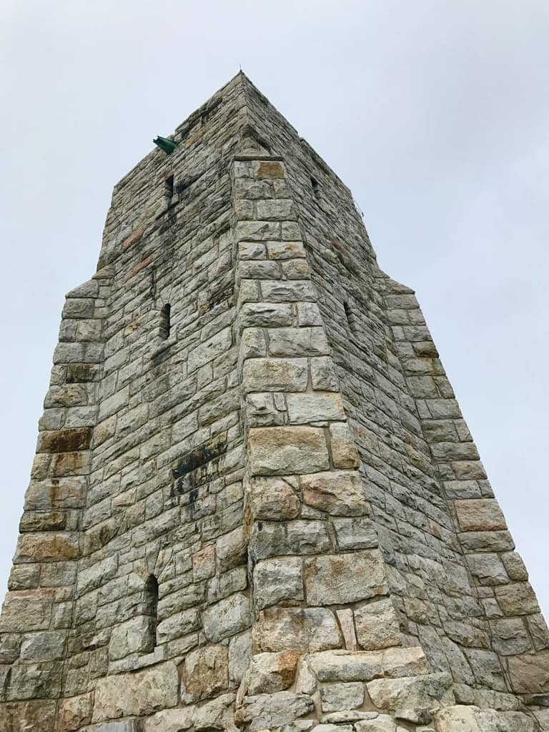 Tower at Top of Mountain at Mohonk Mountain House New York by Very Veganish