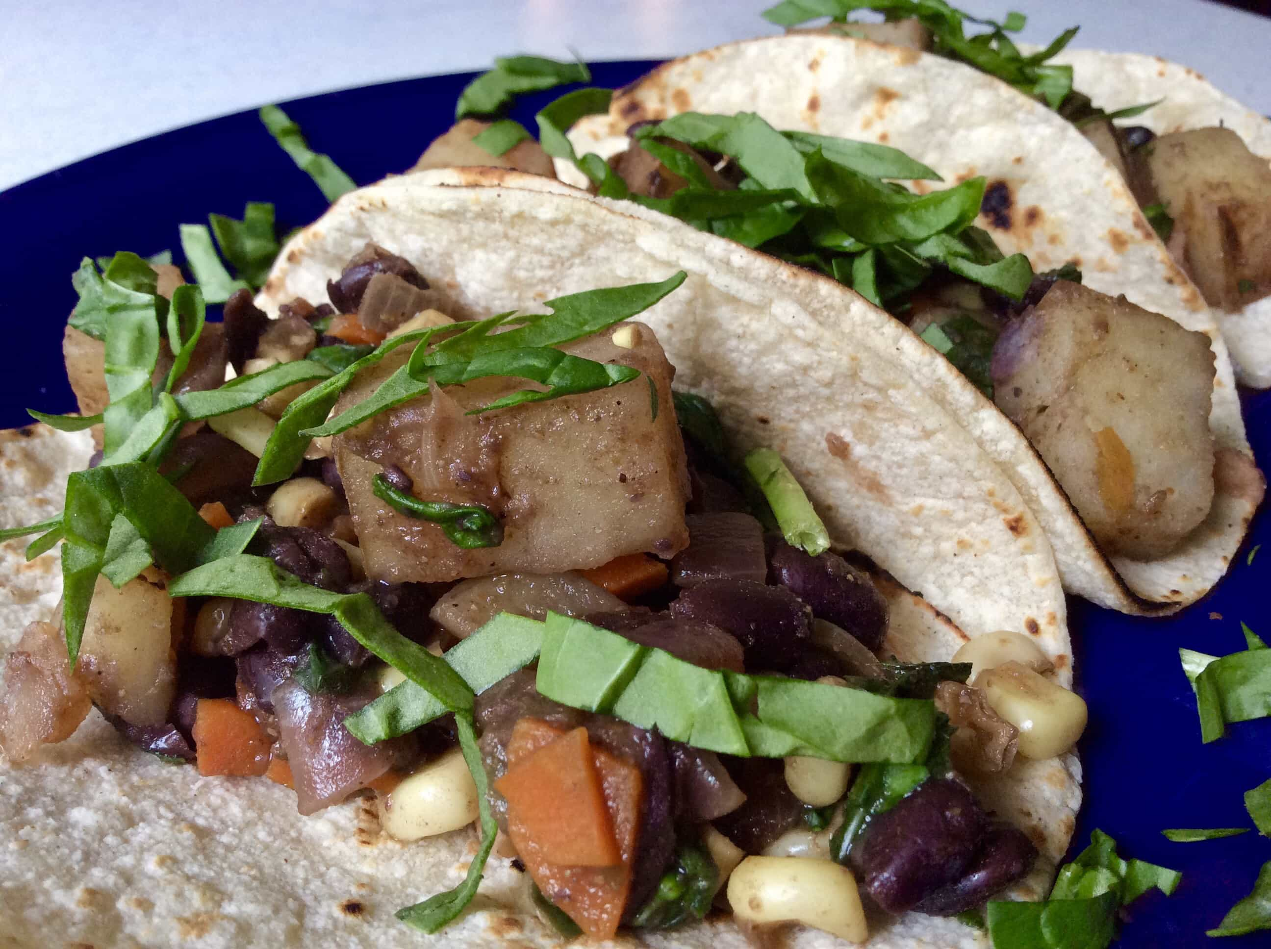 Quick and Easy Tacos with whatever you have in the fridge. Hurricane Harvey Everything Tacos by Very Veganish