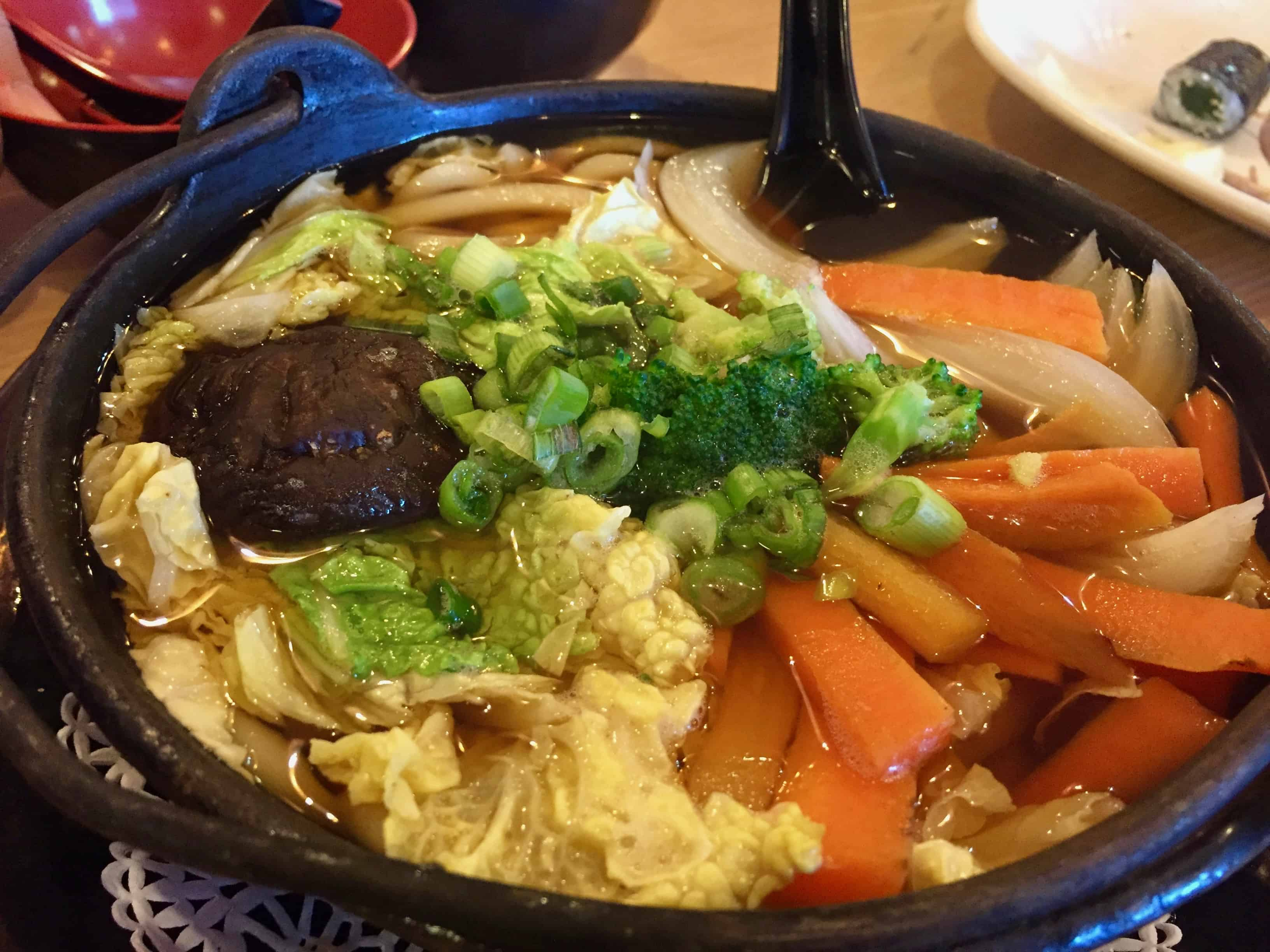 Vegetable Udon Noodle Soup at Oishii Japanese Houston