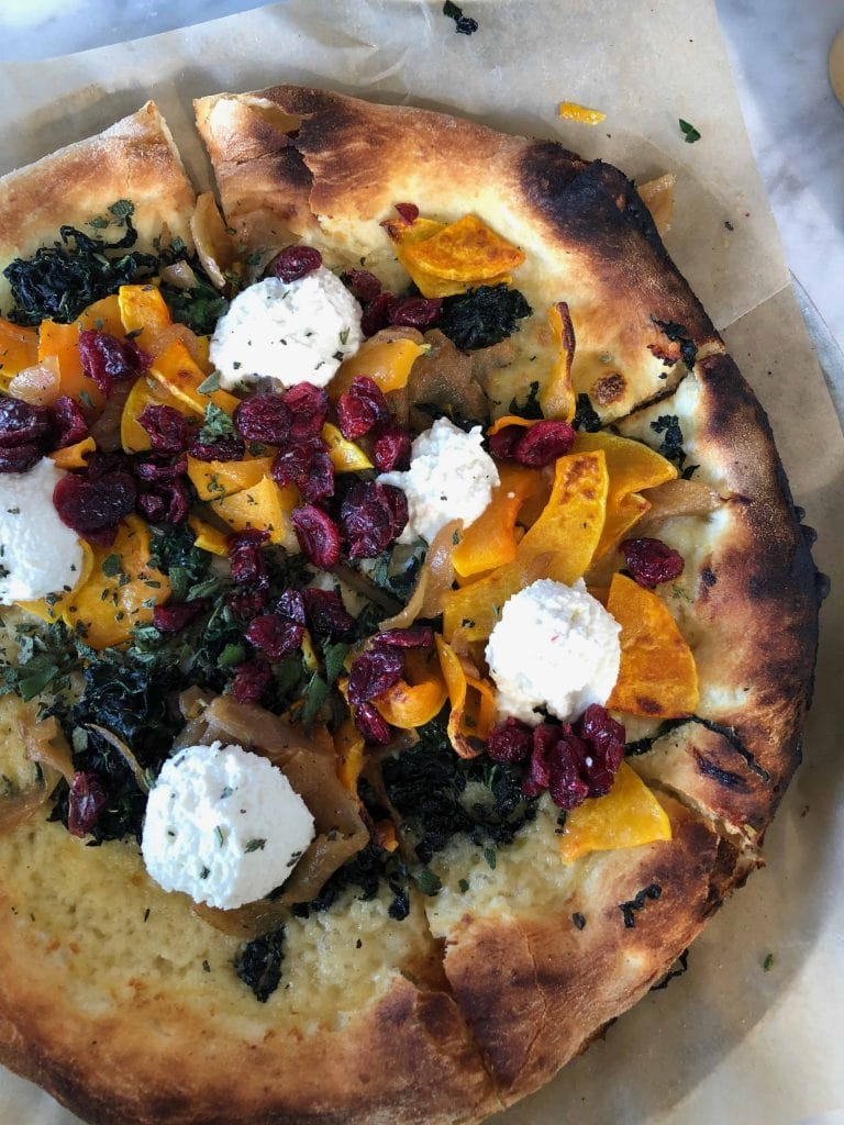 Butternut Squash Pizza at True Food Kitchen