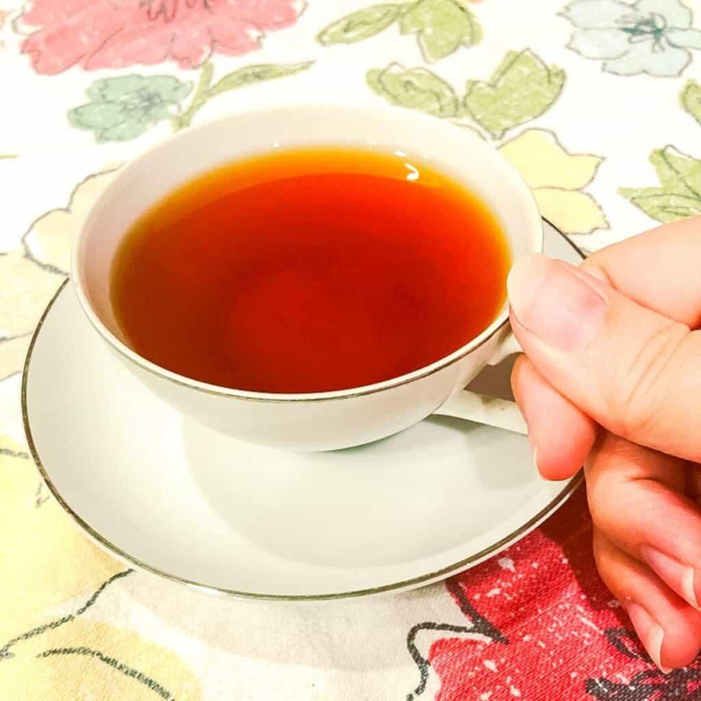 cup of gingerbread rooibos tea