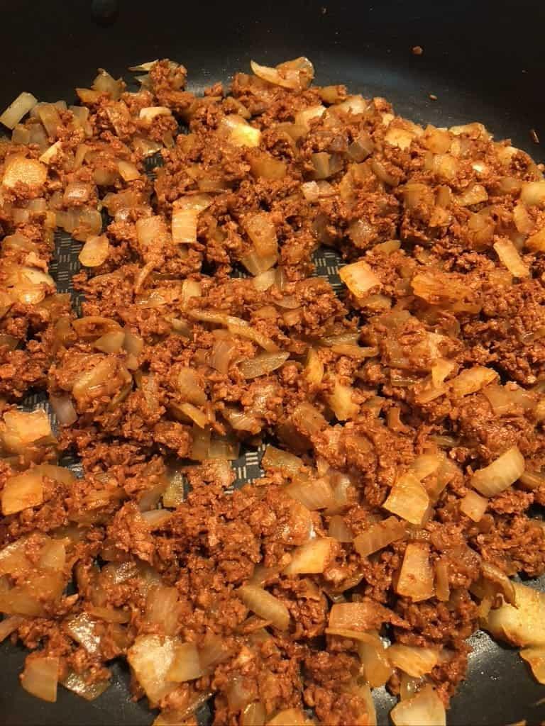 process - adding chorizo