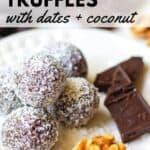 chocolate walnut fudge truffles