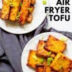 tofu on plates