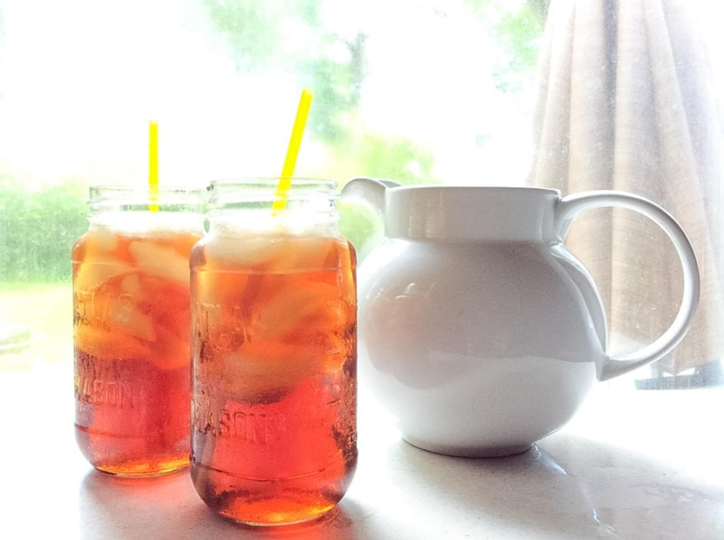 glasses and pitcher