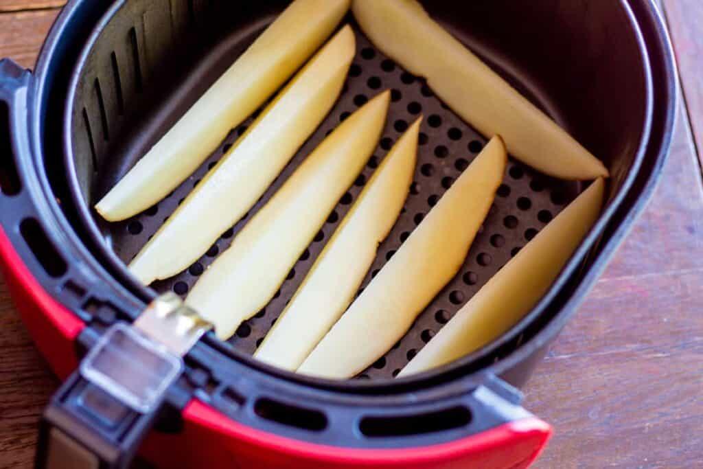 before shot potatoes in air fryer